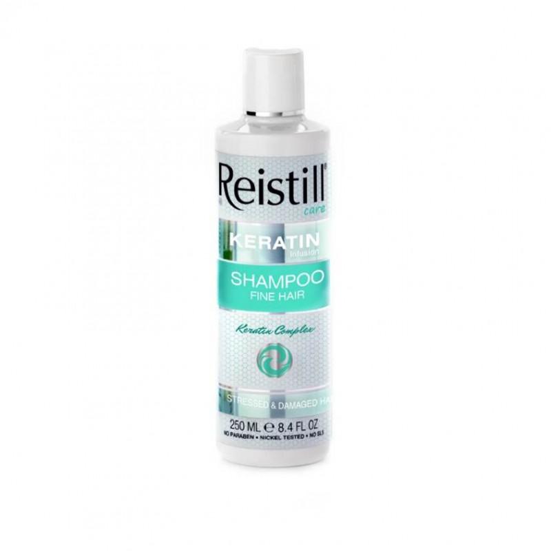 Восстанавливающий шампунь с кератином для тонких волос Reistell