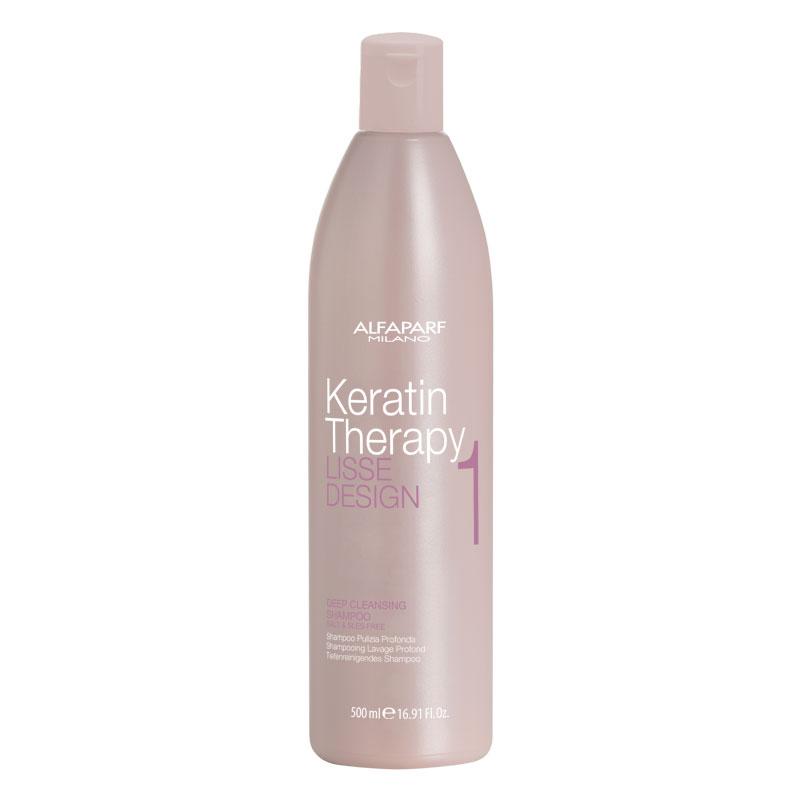 Глубоко очищающий шампунь Lisse Design Keratin Therapy  - 500ml Alfaparf