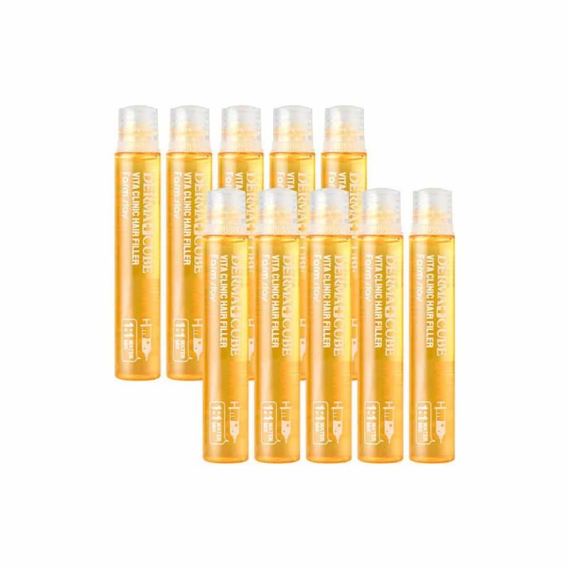 Витаминный филлер для волос Derma Cubed Vita Clinic Hair Filler  - 13ml FarmStay