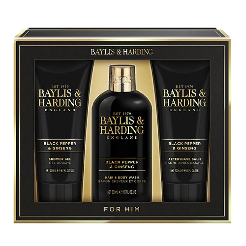 Подарочный набор Signature Men's Black Pepper 300мл+2* 200мл  BAYLIS&HARDING