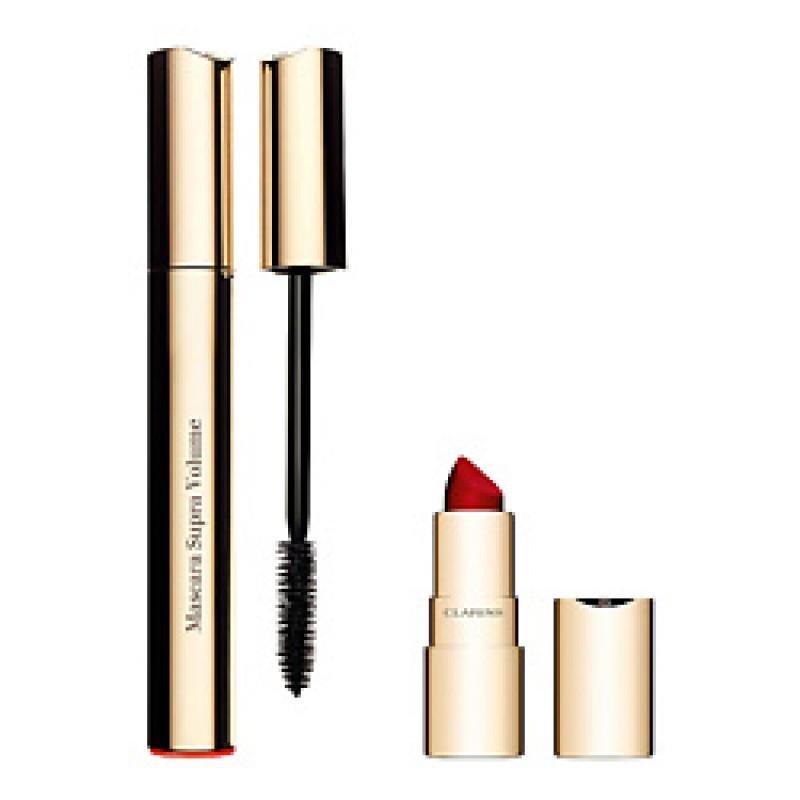 Набор для макияжа Supra Volume 8мл+1.5 г  Clarins