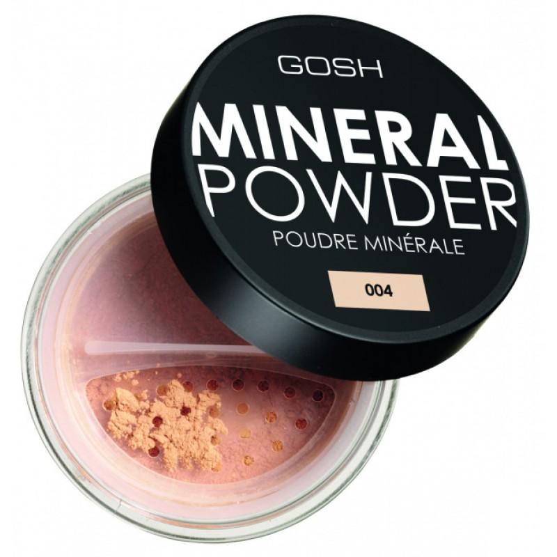 Пудра для лица минеральная рассыпчатая Mineral powder № 004 GOSH