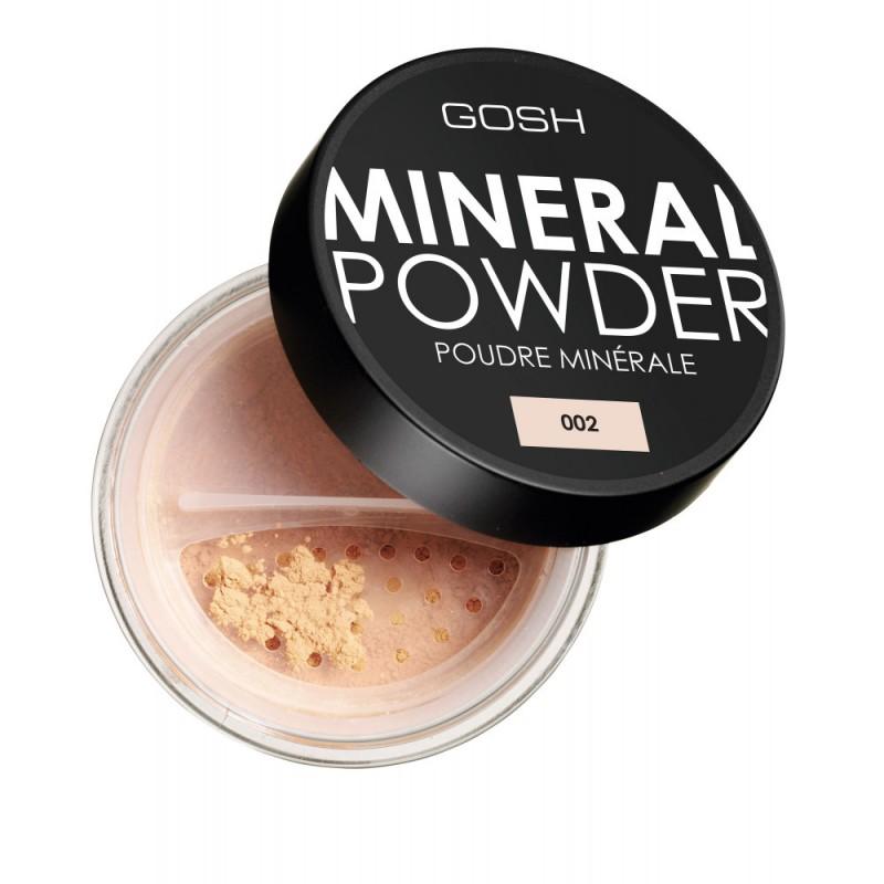 Пудра для лица минеральная рассыпчатая Mineral powder № 002 GOSH