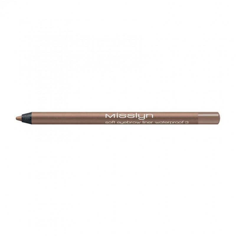 Водостойкий карандаш для бровей soft eyebrow liner waterprof 03 Misslyn