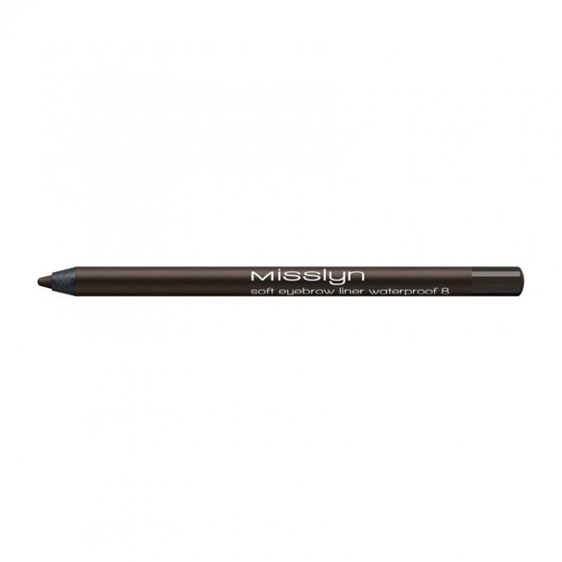 Водостойкий карандаш для бровей soft eyebrow liner waterprof 08 Misslyn