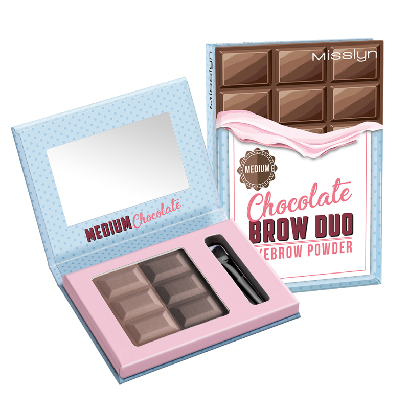 Палетка теней для бровей Chocolate 04  - 6ml Misslyn