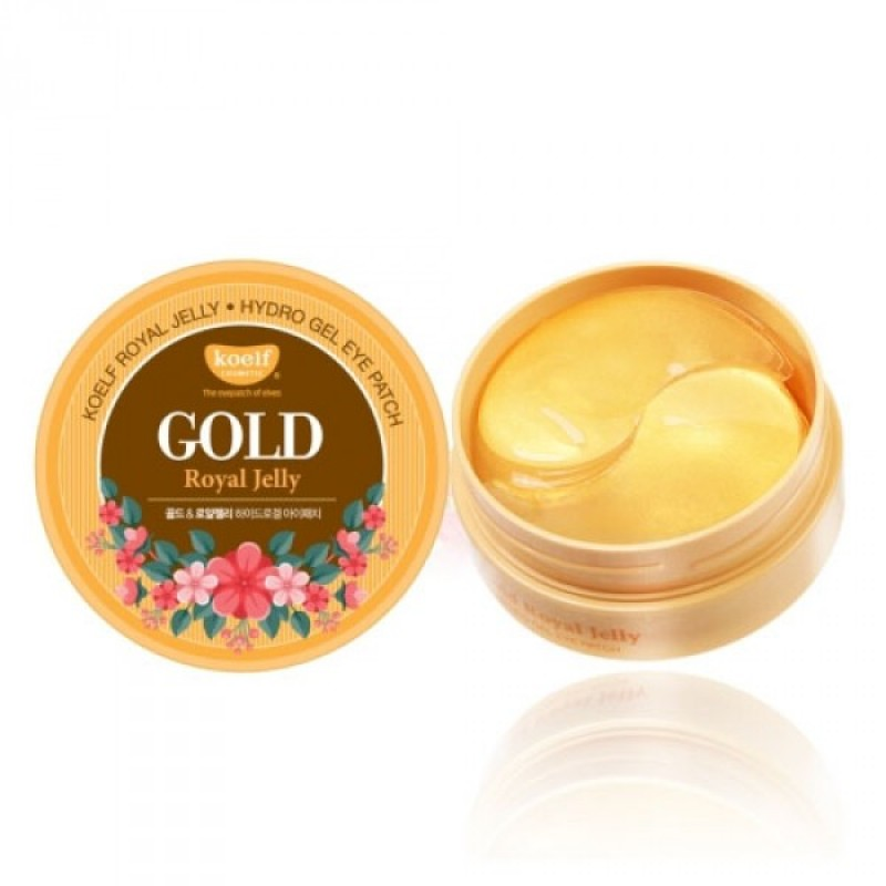 Гидрогелевые патчи с золотом и маточным молочком для ухода за нежной кожей вокруг глаз KOELF