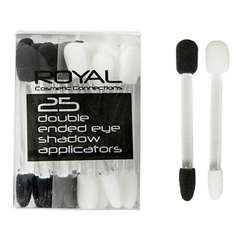 Аппликаторы для макияжа двусторонние 25 шт.  Royal Cosmetics