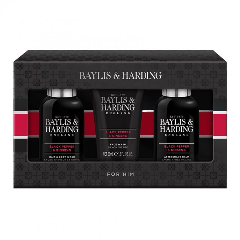 Набор с жидким мылом для лица Men's Black Pepper&Ginseng  BAYLIS&HARDING