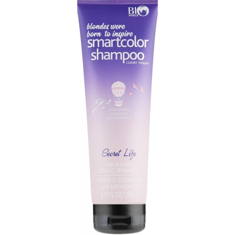 Индиго шампунь для блондинок Luxury Therapy  - 260ml Bio World