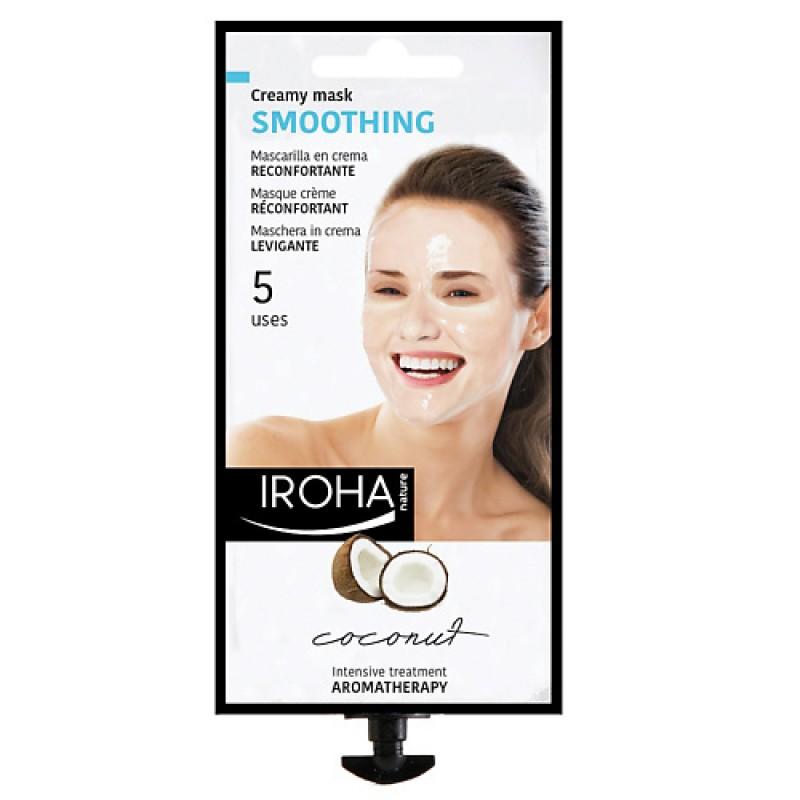 Кремовая смягчающая маска для лица с кокосом  Iroha