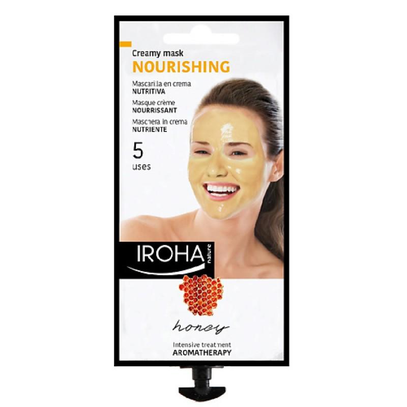 Кремовая питательная маска для лица с медом  Iroha