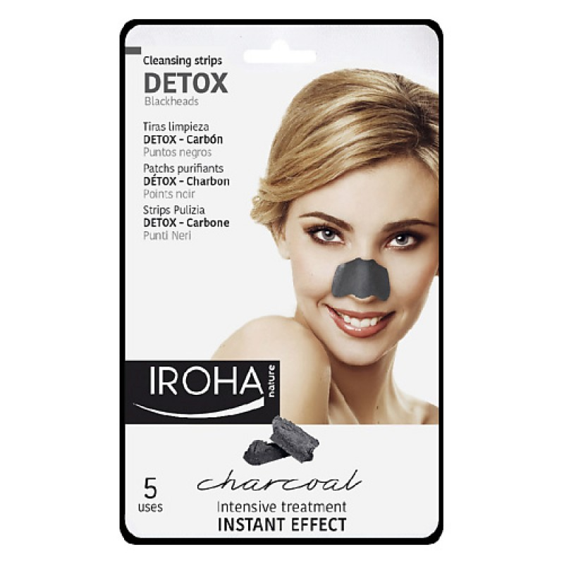 Очищающие полоски для носа с черным углем