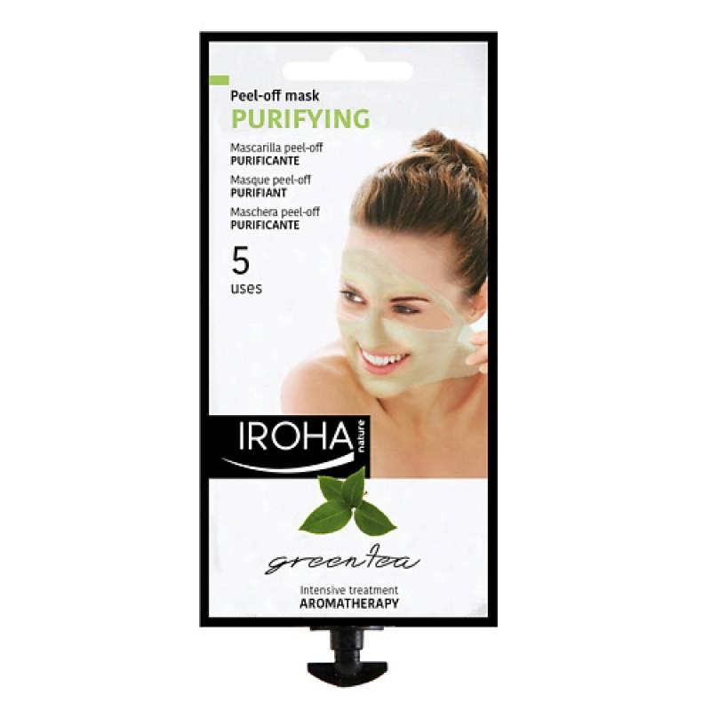 Кремовая очищающая маска-пилинг для лица с зеленым чаем  Iroha