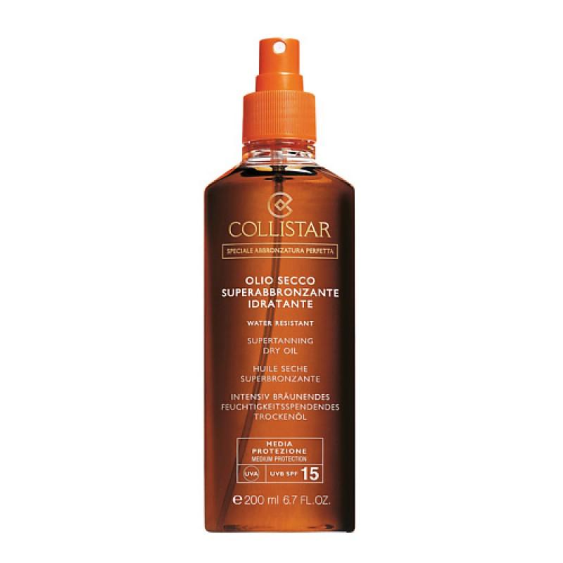 Масло сухое для интенсивного загара для лица-тела-волос SPF15 Collistar Collistar