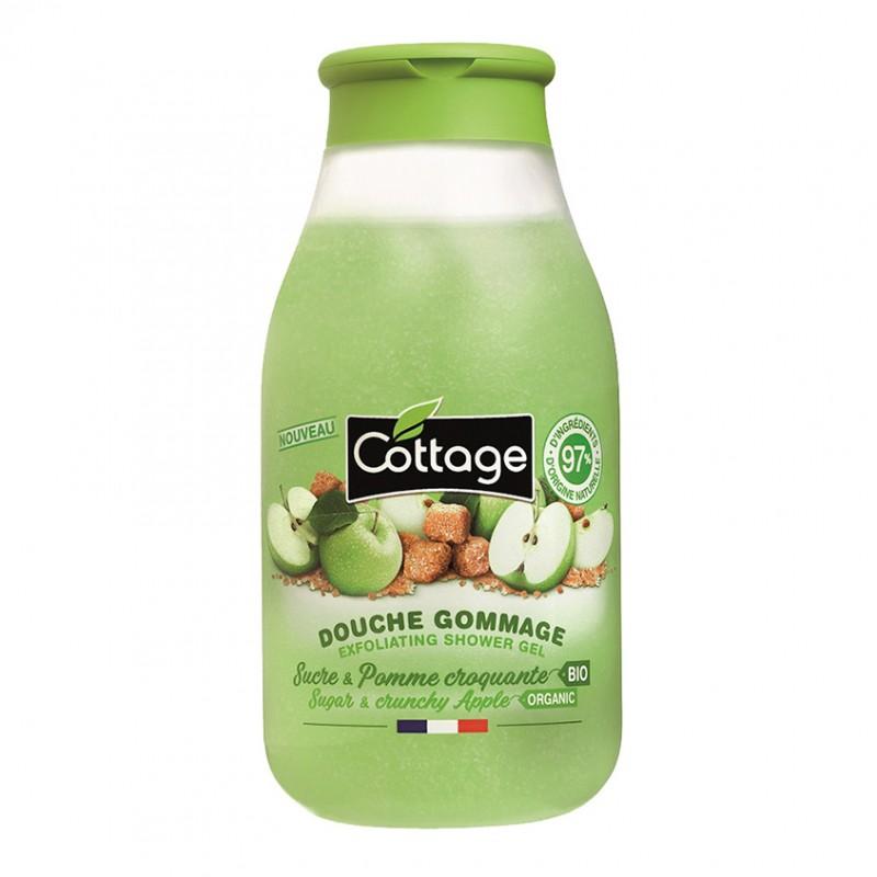 Гель-эксфолиант для душа Sugar and Crunchy Apple  - 270ml Cottage