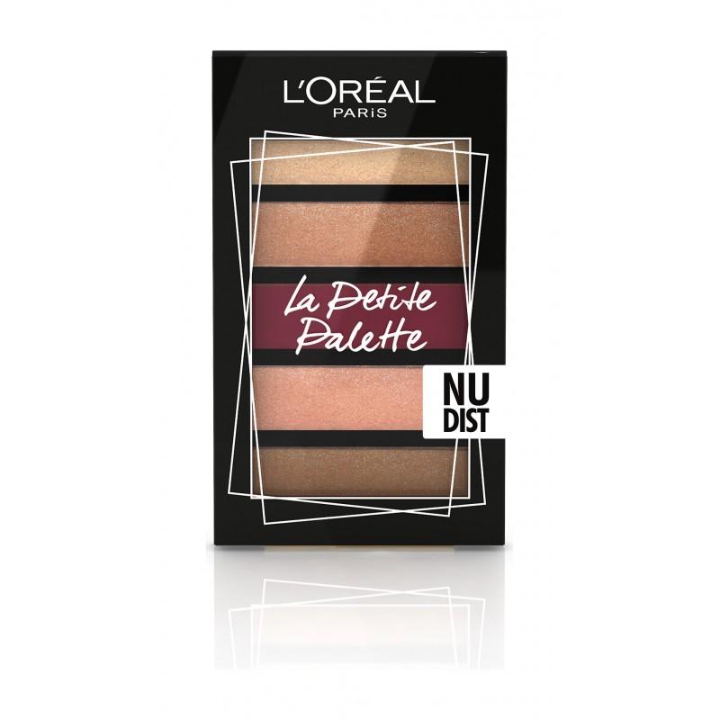 Мини-палетка теней для век La Petit Palette Nudist  - 4ml L'oreal